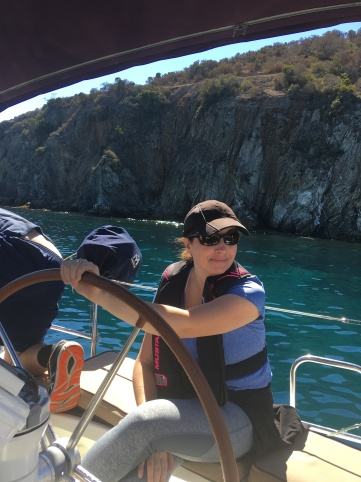 two harbors area, catalina. the water was cold but we snorkeled for hours