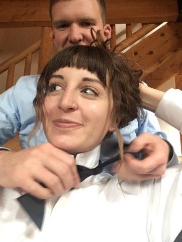seth tied me a bow tie