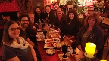 team dinner, we got a billion tapas and a barrel of sangria
